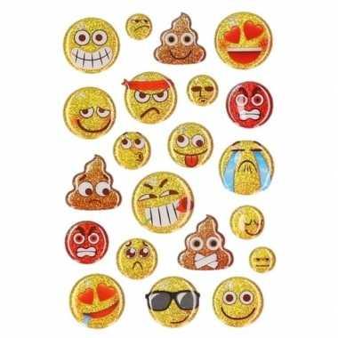 15x emotie glitter stickers