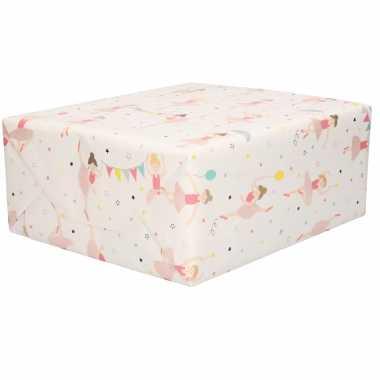 3x inpakpapier/cadeaupapier balletdanseressen 200 x 70 cm rollen