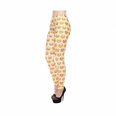 Dames party legging emoticons print 10099184