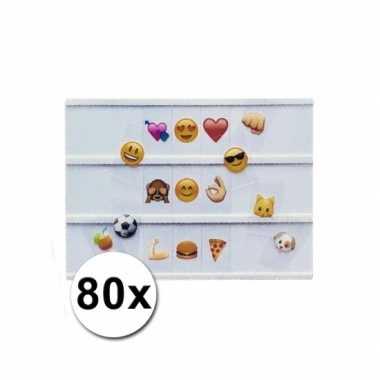 Deco lichtbak emoticons 80 stuks