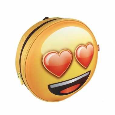 Emoji 3d rugtas liefde emoticon voor volwassenen