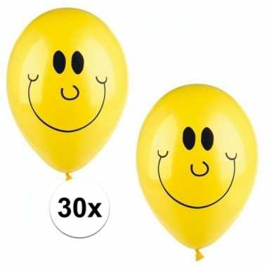 Emoticon ballonnen 30 stuks