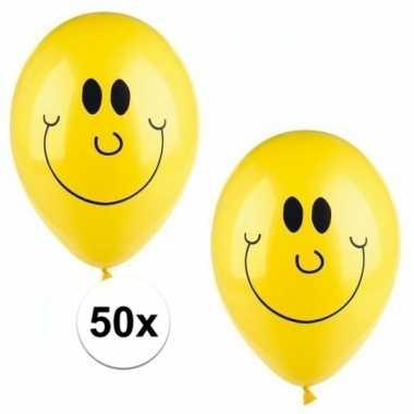 Emoticon ballonnen 50 stuks