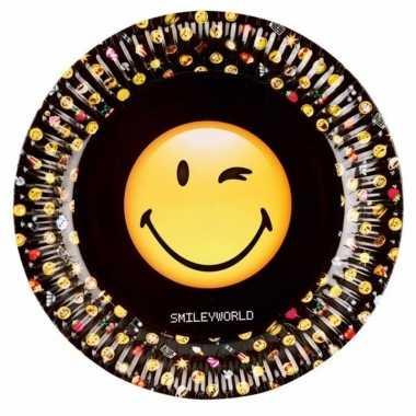 Emoticon emoticons bordjes 8 stuks