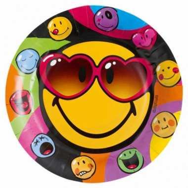 Emoticon feestbordjes 8 stuks