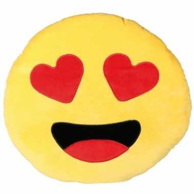 Emoticon kussen verliefd 50 cm