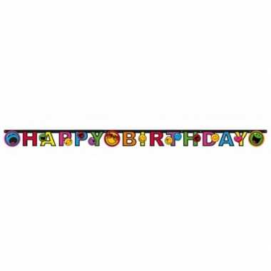 Emoticon letterslinger happy birthday