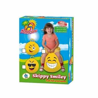 Emoticon skippybal grote lach