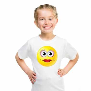 Emoticon t-shirt diva wit kinderen