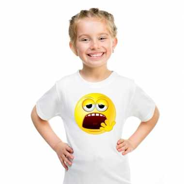Emoticon t shirt moe wit kinderen