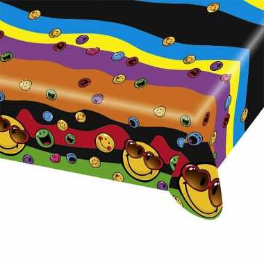 Emoticon tafelkleed 180x120 cm