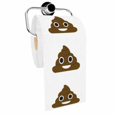 Emoticon toiletpapier grote drol
