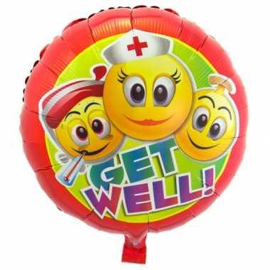Folie ballon beterschap emoticon 45 cm 10072857