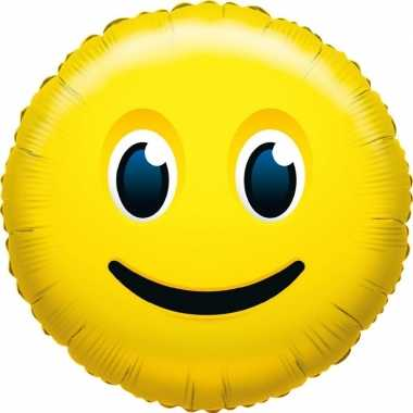 Folie ballon glimlach emoticon 45 cm