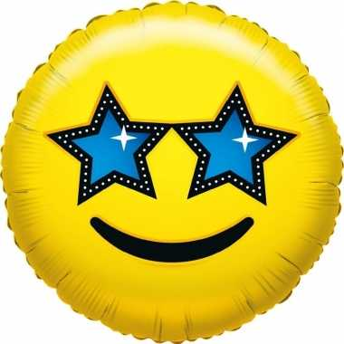 Folie ballon ster emoticon 45 cm