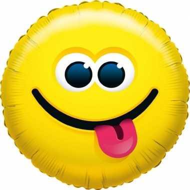 Folie ballon tong uitsteken emoticon 45 cm