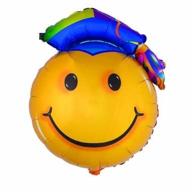 Folieballon geslaagd emoticon 67 cm