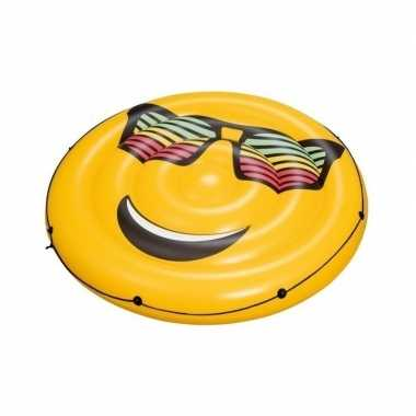 Grote gele opblaasbare emoticon 188 cm
