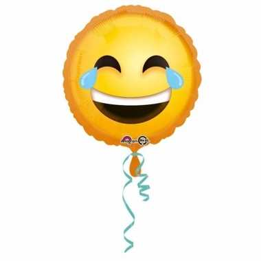 Helium ballon lachende emoticon 43 cm