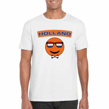 Holland coole emoticon t shirt wit heren