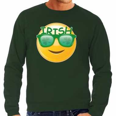 Irish emoticon / st. patricks day sweater / kostuum groen heren