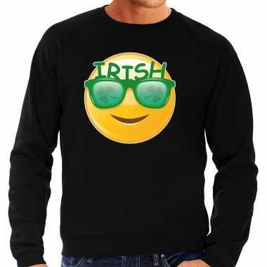 Irish emoticon / st. patricks day sweater / kostuum zwart heren