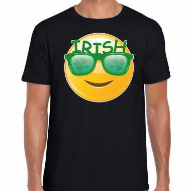 Irish emoticon st patricks day t-shirt kostuum zwart heren