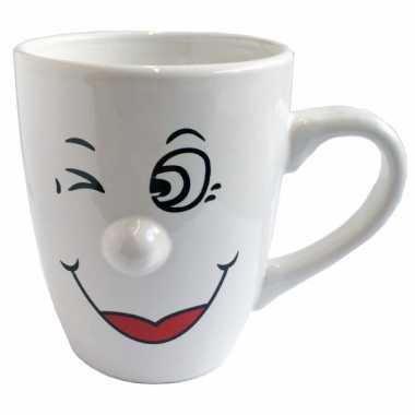 Koffiemokken/bekers emoticon model 6 van 300 ml