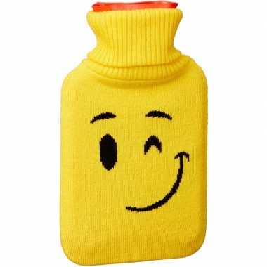 Kruik met gele hoes/knipoog emoticon 1 liter
