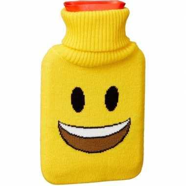 Kruik met gele hoes/lachende emoticon 1 liter