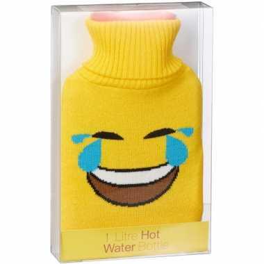 Kruik met gele hoes lol emoticon 1 liter