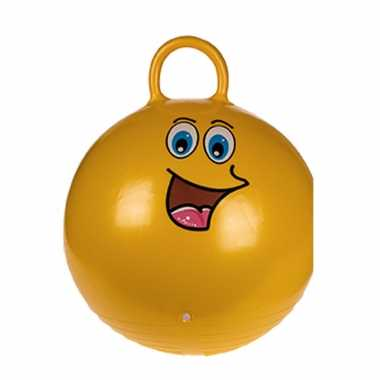 Skippybal emoticon voor kinderen goud 45 cm