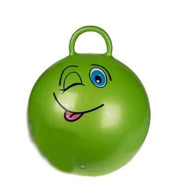 Skippybal emoticon voor kinderen groen 45 cm