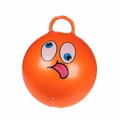 Skippybal emoticon voor kinderen oranje 45 cm