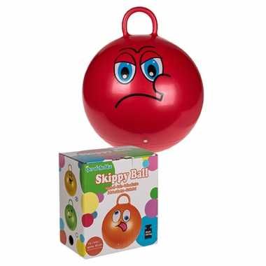Skippybal emoticon voor kinderen rood 45 cm
