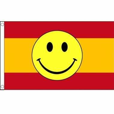 Spaanse vlag met emoticon 90 x 150 cm