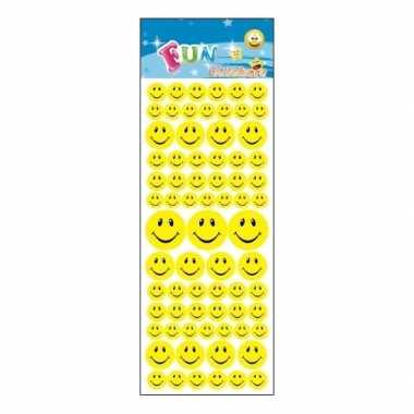 Stickervel emoticon faces met 144 stickers