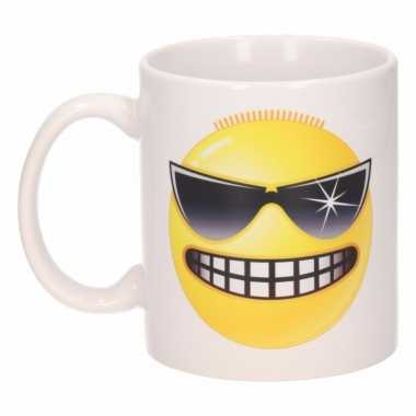 Stoere emoticon mok / beker 300 ml