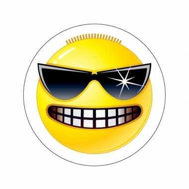 Stoere emoticon sticker type 3