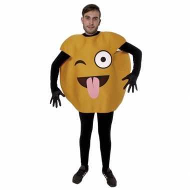 Tong emoticon kostuum voor volwassenen