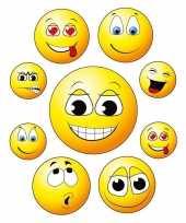 18x raamstickers emoticons emoticon raamdecoratie
