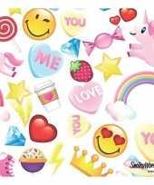 20x emoticon candy thema servetten 33 x 33 cm
