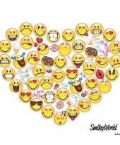 20x emoticons hart servetten 33 x 33 cm