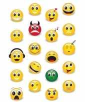 60x emoticon emoticons stickers met 3d effect met zacht kunststof
