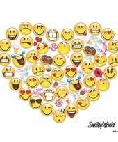 60x emoticons hart servetten 33 x 33 cm