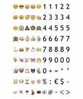 Deco a6 lichtbak emoticons 90 stuks