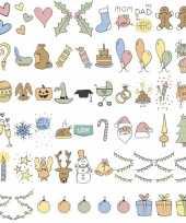 Deco a6 lichtbak lightbox feestdagen emoticons 60 stuks