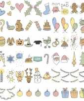 Deco lichtbak lightbox feestdagen emoticons 60 stuks