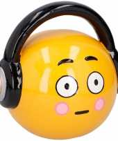 Emoticon headphone spaarpot