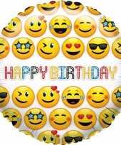 Folie ballon emoticon verjaardag 35 cm